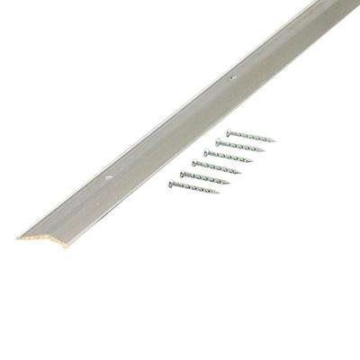 Polished 1-3/8 in. x 36 in. Smooth Carpet Trim with Screw Nails