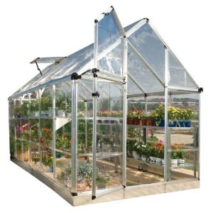 Palram Snap and Grow 6 ft. x 12 ft. Silver Polycarbonate Greenhouse by Palram