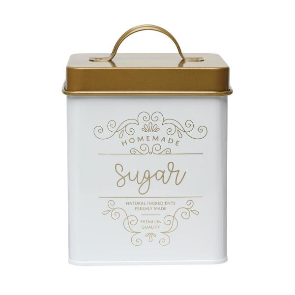Amici Home Harper 50 oz. Metal Sugar Storage Canister with Square