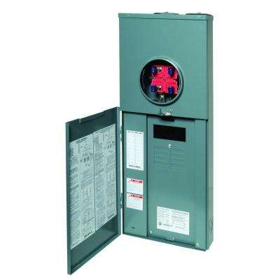 QO 200 Amp 8-Space 16-Circuit Outdoor Ringless Overhead/Underground Main Breaker CSED