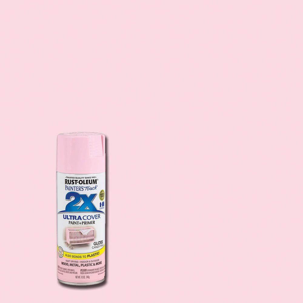 Rust-Oleum Painter's Touch 2X 12 oz. Gloss Candy Pink General Purpose Spray Paint