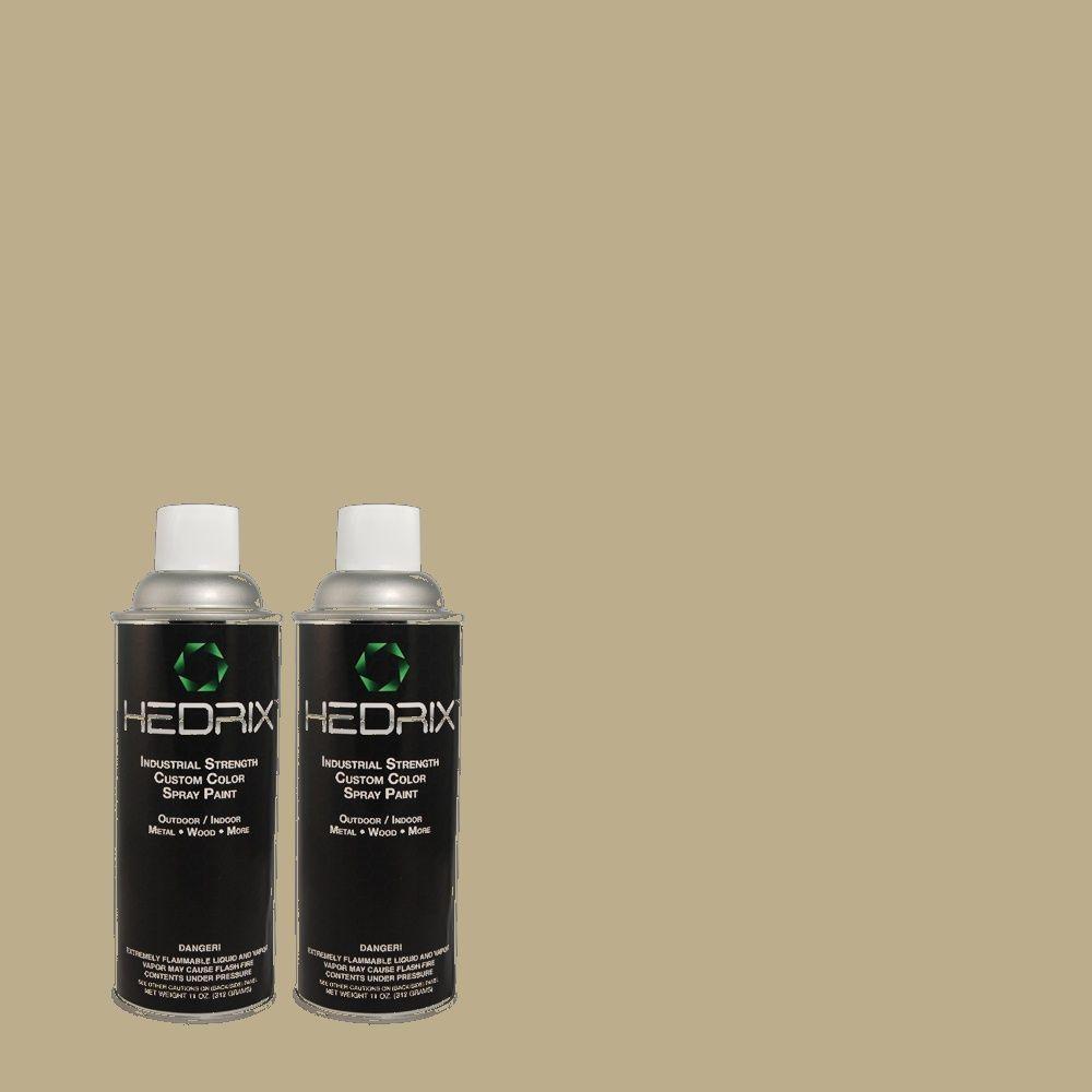 Hedrix 11 oz. Match of 780D-5 Spartan Stone Flat Custom Spray Paint (2-Pack)