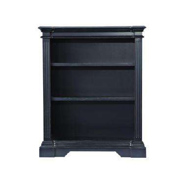 Bufford Rubbed Black Open Bookcase