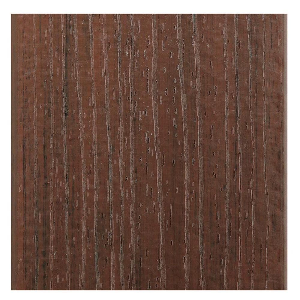 TimberTech 15/16 in. x 5.36 in. x 2 ft. Evolutions Capped Composite Decking Board Sample in Pacific Walnut