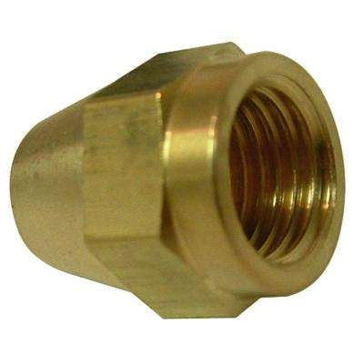 1/2 in. Brass Flare Short Rod Nuts (2-Pack)