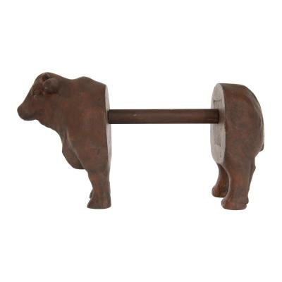 Freestanding Brown Cow Shaped Paper Towel Holder