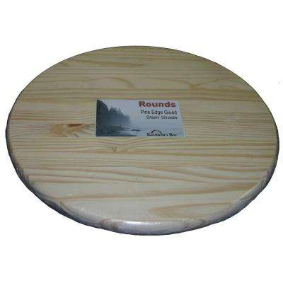1 in. x 15 in. x 1.25 ft. Pine Edge Glued Panel Round Board