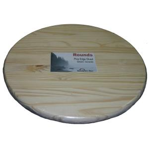 Pine Edge Glued Panel Round Board ZPRLR0136   The Home Depot