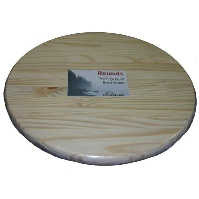1 in. x 36 in. x 3 ft. Pine Edge Glued Panel Round Board