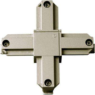 Brushed Nickel Track Accessory Cross Connector