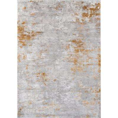 Cannes Gold 5 ft. 3 in. X 7 ft. 6 in. Indoor Area Rug