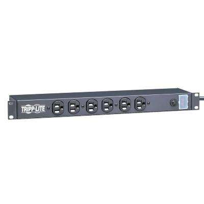 Power Strip Rackmount Metal 120-Volt 5-15R 12-Outlet 15 ft. Cord 1URM