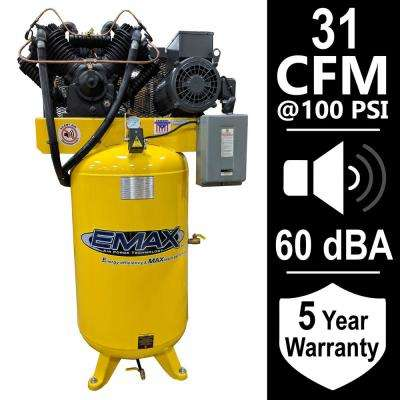 Industrial Series 80 Gal. 7.5 HP 1-Phase Silent Air Electric Air Compressor