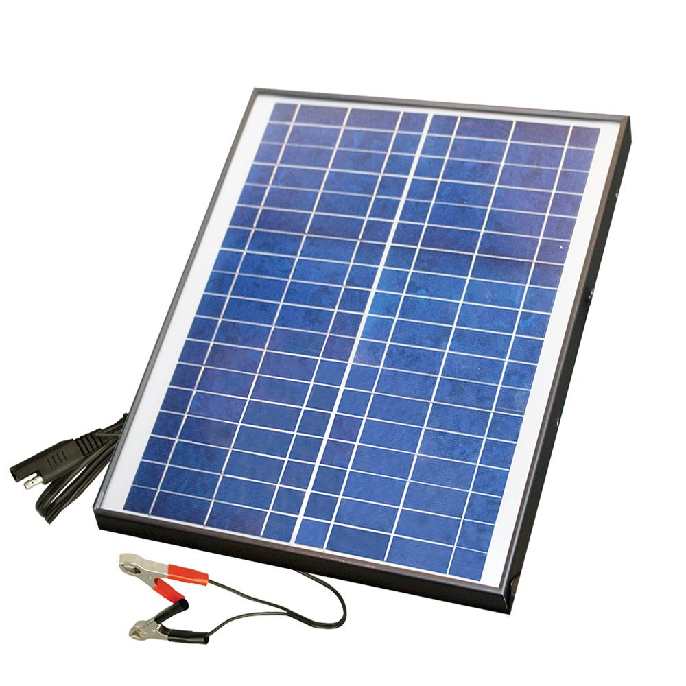 Nature Power 20 Watt Polycrystalline Solar Panel For 12 Volt Charging 23208 The Home Depot