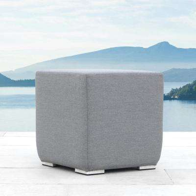 Jupiter Gray Aluminum Outdoor Ottoman