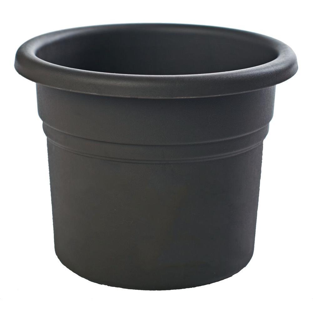 10 in. Black Posy Plastic Planter