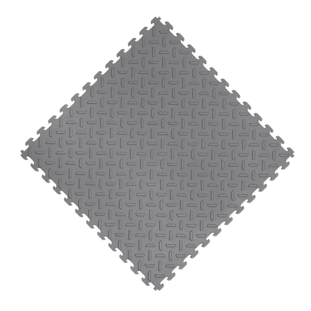 18.4 in. x 18.4 in. Gray PVC Garage Flooring Tile (6-Pack)