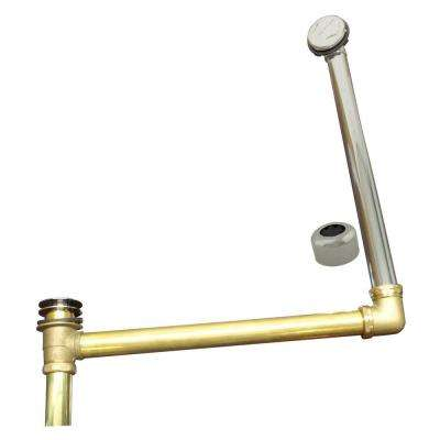 ABS/Brass Semi-Exposed Waste and Overflow with Tip-Toe Drain, Satin Nickel