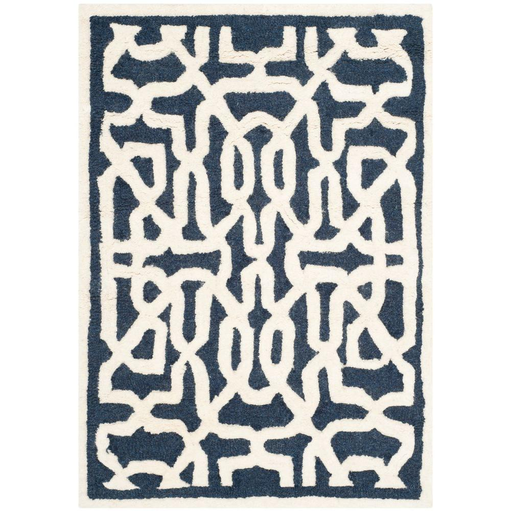 Safavieh Cambridge Navy/Ivory 3 ft. x 5 ft. Area Rug
