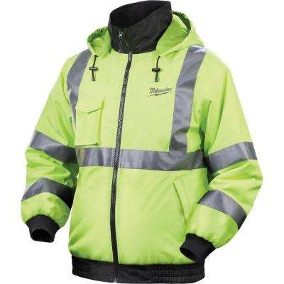 2X-Large M12 12-Volt Lithium-Ion Cordless High Visibility Heated Jacket Kit (Battery and Charger Included)
