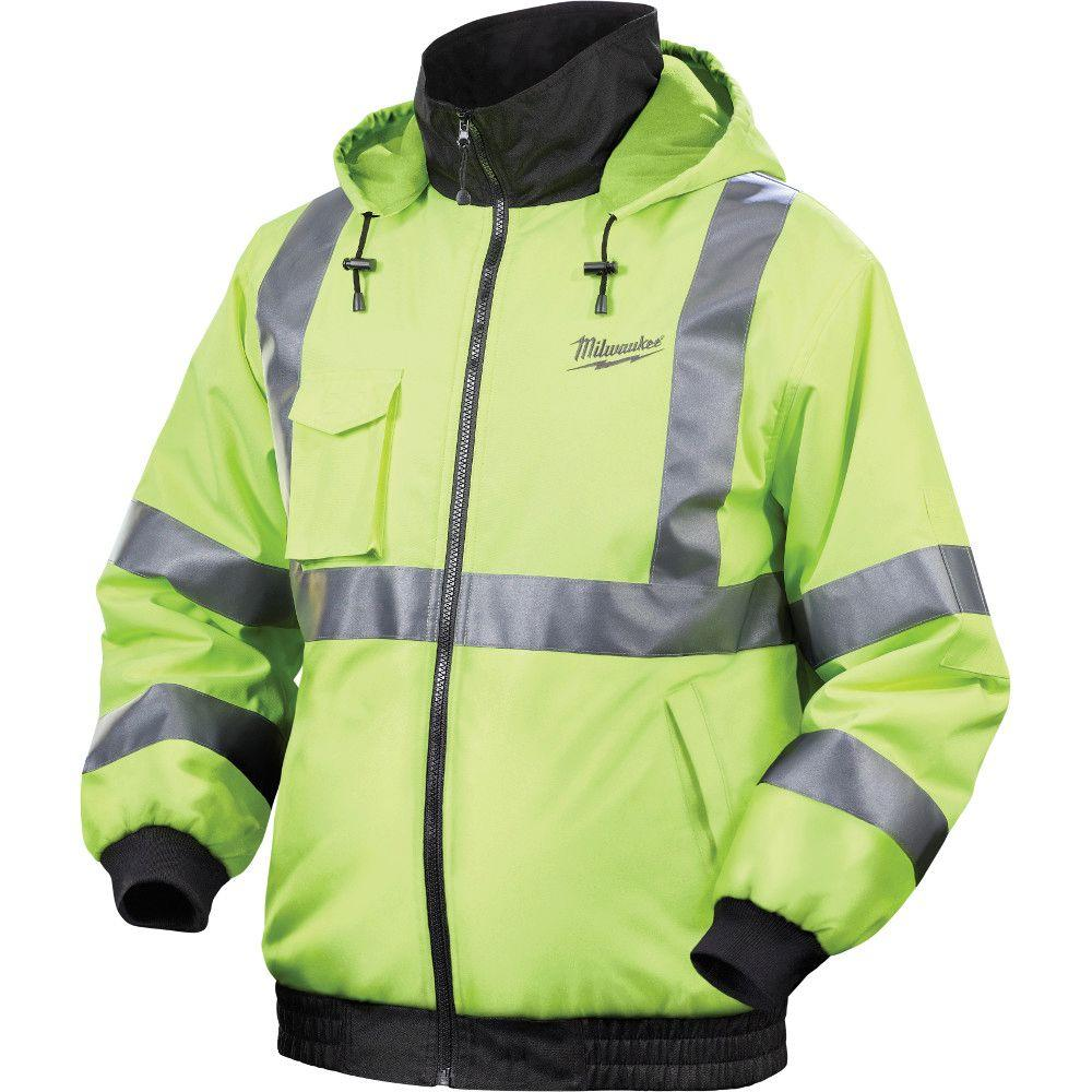 Milwaukee Large M12 Lithium-Ion Cordless High Visibility Heated Jacket Kit (Battery and Charger Included)