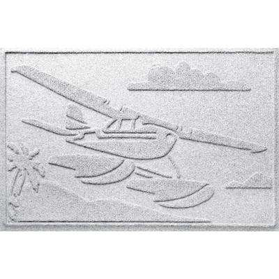 White 24 in. x 36 in. Sea Plane Polypropylene Door Mat
