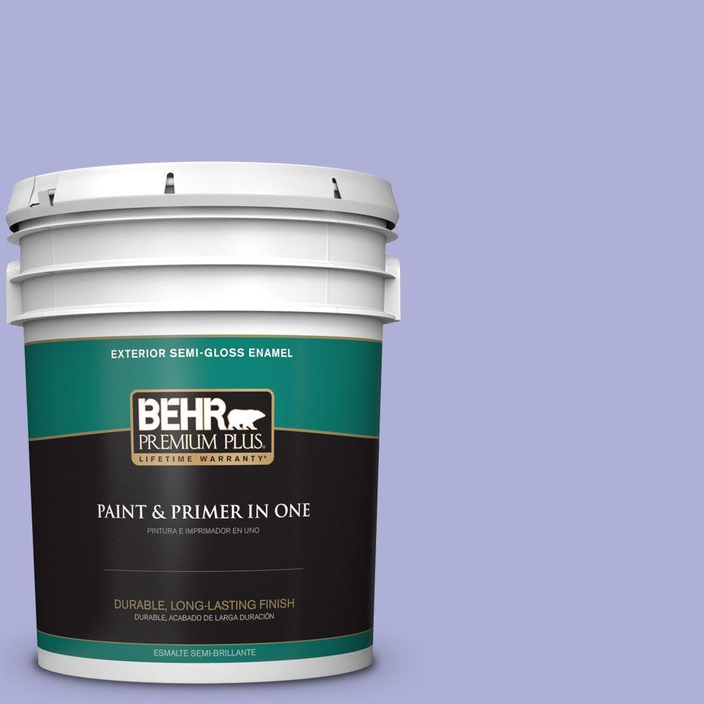 BEHR Premium Plus 5-gal. #620B-4 Pixie Violet Semi-Gloss Enamel Exterior Paint