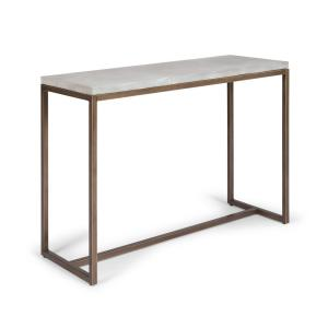 Geometric Chalky White Console Table