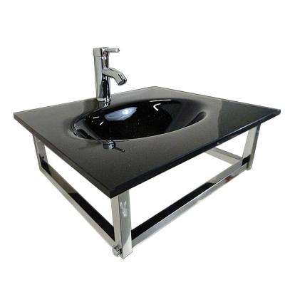 Caius Wall-Mounted Bathroom Sink in Black