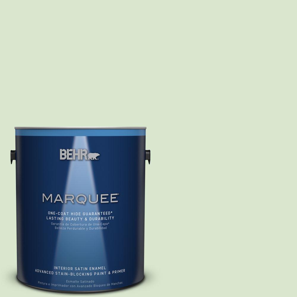 1 gal. #T12-18 Minty Frosting Satin Enamel Interior Paint