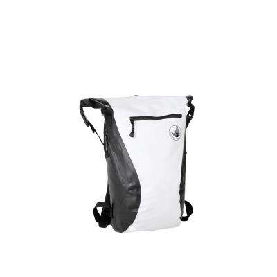 Advenire Waterproof 6 in. White Vertical Roll-Top Backpack