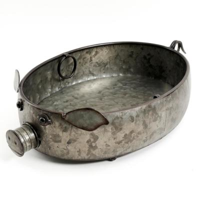 Life On The Farm 20.5 in. Antique Silver Pig Shape Server