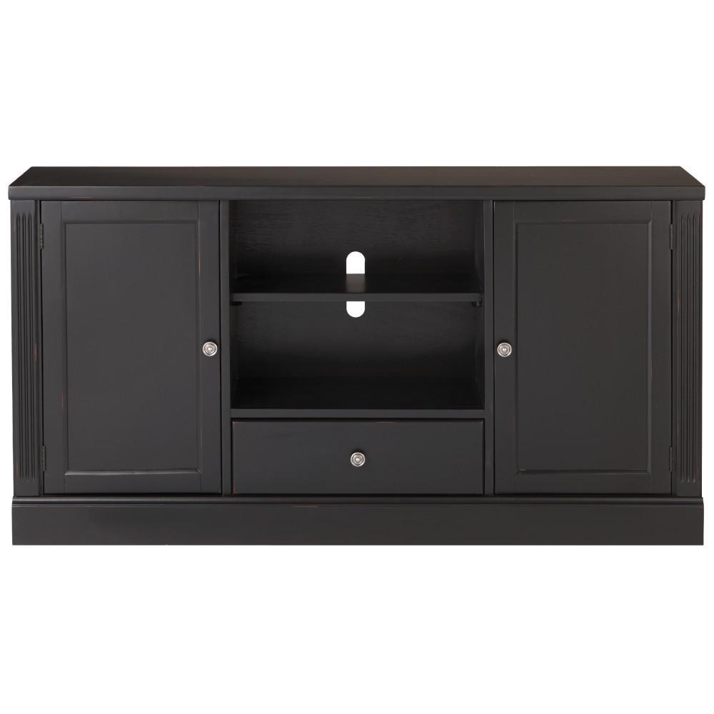 Black Tv Stands Living Room Furniture The Home Depot