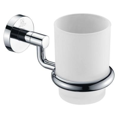 Caster Series 7.01 in. Toothbrush Holder in Polished Chrome