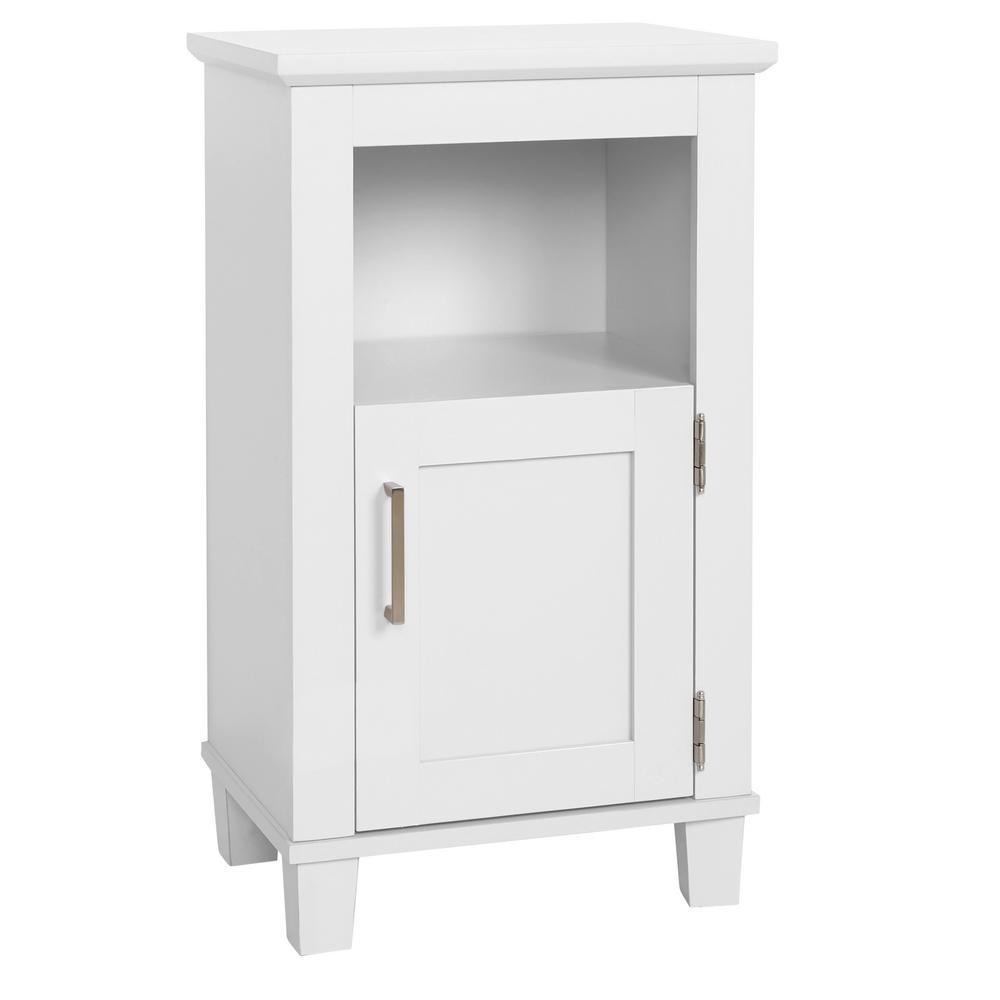 GLACIER BAY Shaker Style 16 in. W x 12 in. D x 29.9 in. H Floor Cabinet in White