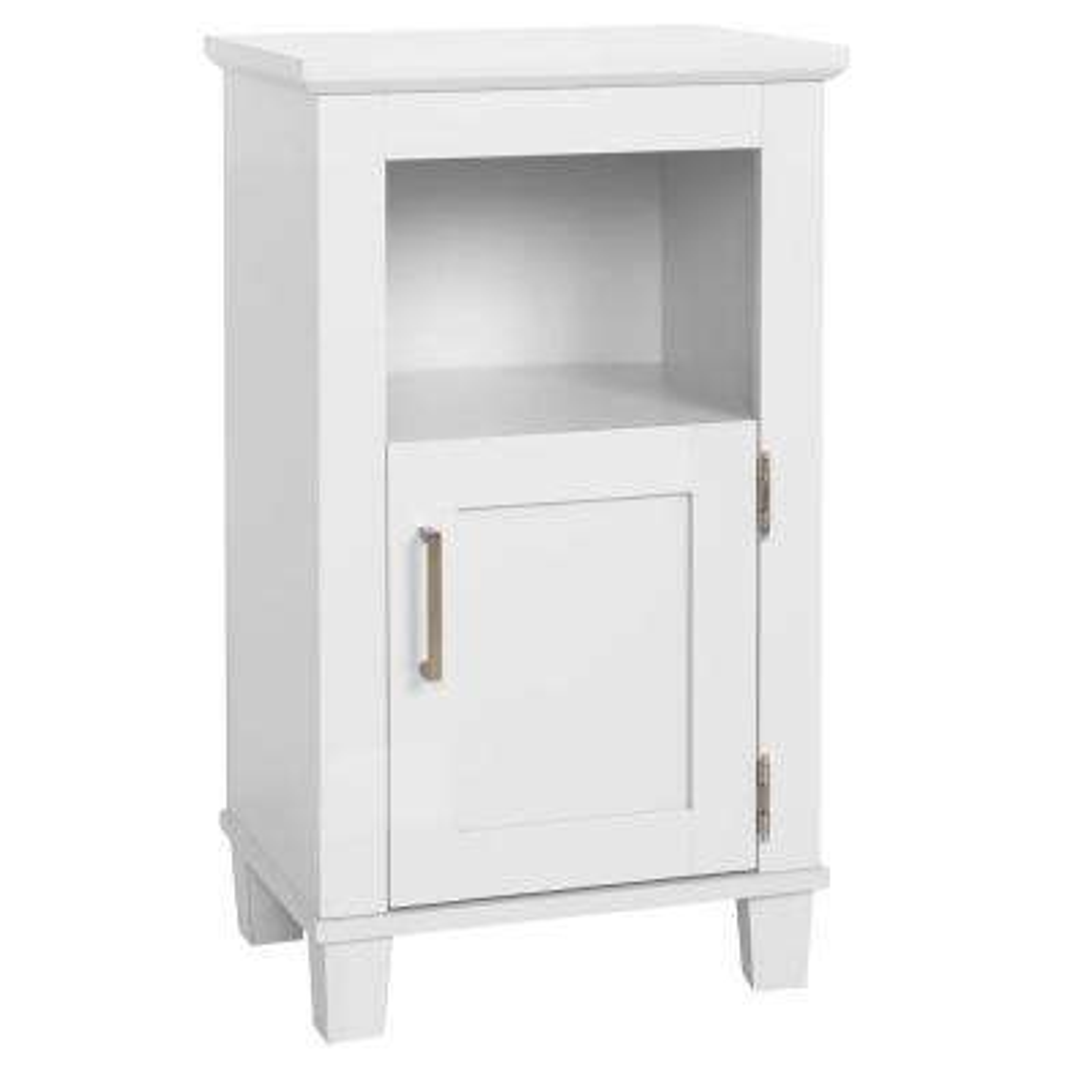 Shaker Style 16 in. W x 12 in. D x 29.9 in. H Floor Cabinet in White