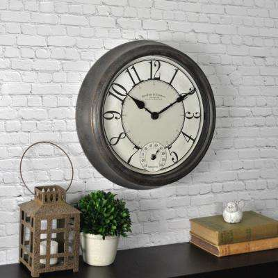 Bronze Isle Patina Outdoor Wall Clock