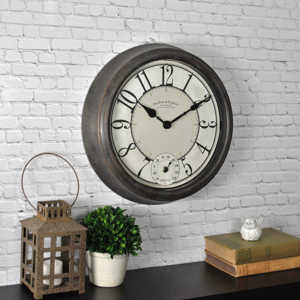 Bronze Isle Patina Outdoor Wall Clock