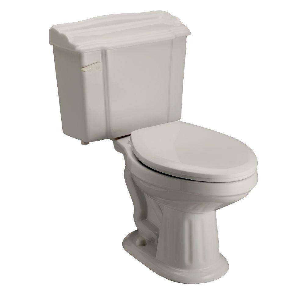Pegasus Victoria 2-Piece 1.6 GPF Elongated Toilet in Bisque-DISCONTINUED