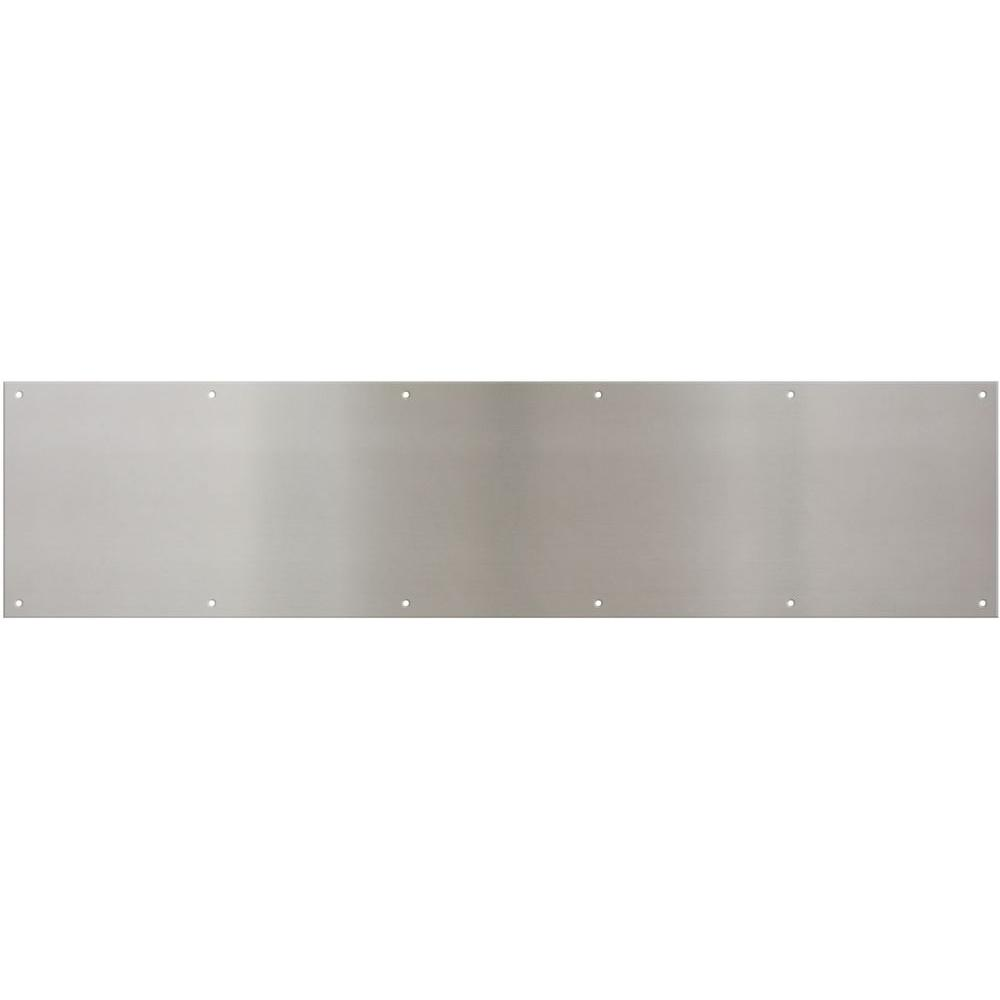 8 in. x 34 in. Satin Nickel Kick Plate