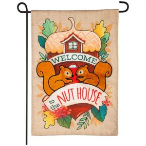 Welcome to the Nut House Squirrel Garden Flag MAKE AN OFFER!!!