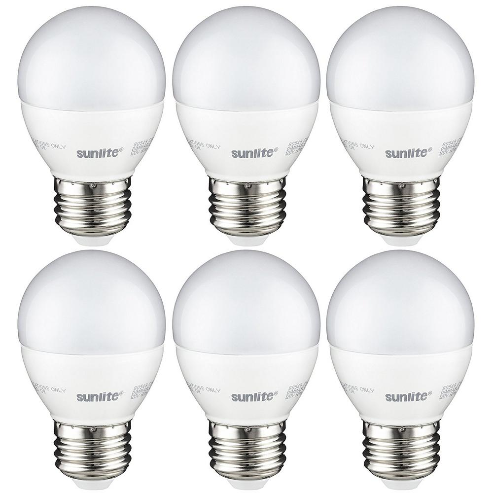 Bulbrite 40w Equivalent Warm White Light G16 Dimmable Led: Sunlite 40-Watt Equivalent Frost Warm White G16 Dimmable