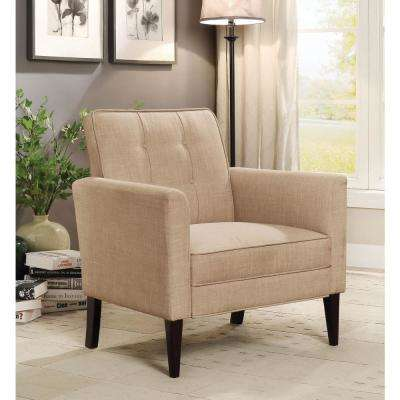 Amelie 31 in. Beige Contemporary Accent Chair
