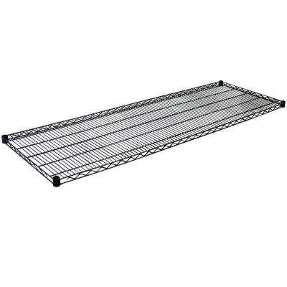 1.5 in. H x 72 in. W x 18 in. D Steel Wire Shelf in Black