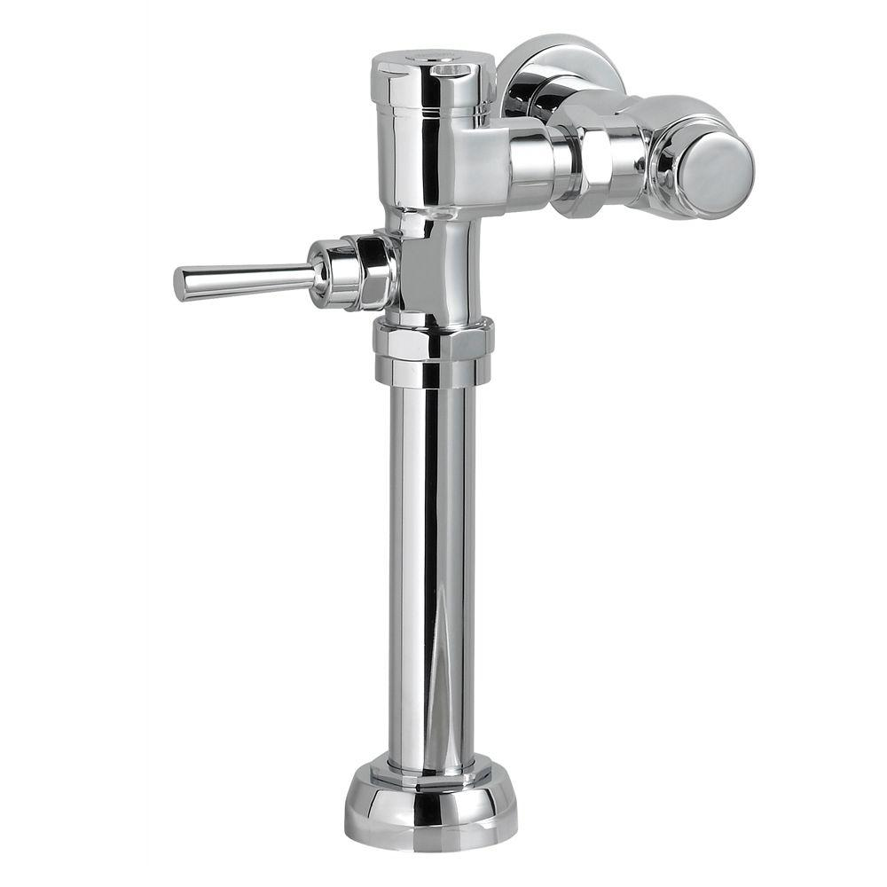 Manual 1.28 GPF 11.5 in. Rough-In Toilet Flush Valve in Polished