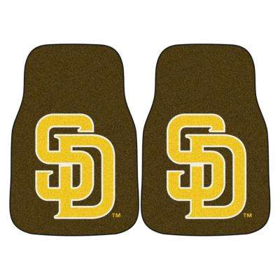 MLB - San Diego Padres 17 in. x 27 in. 2-Piece set of Carpet Car Mats