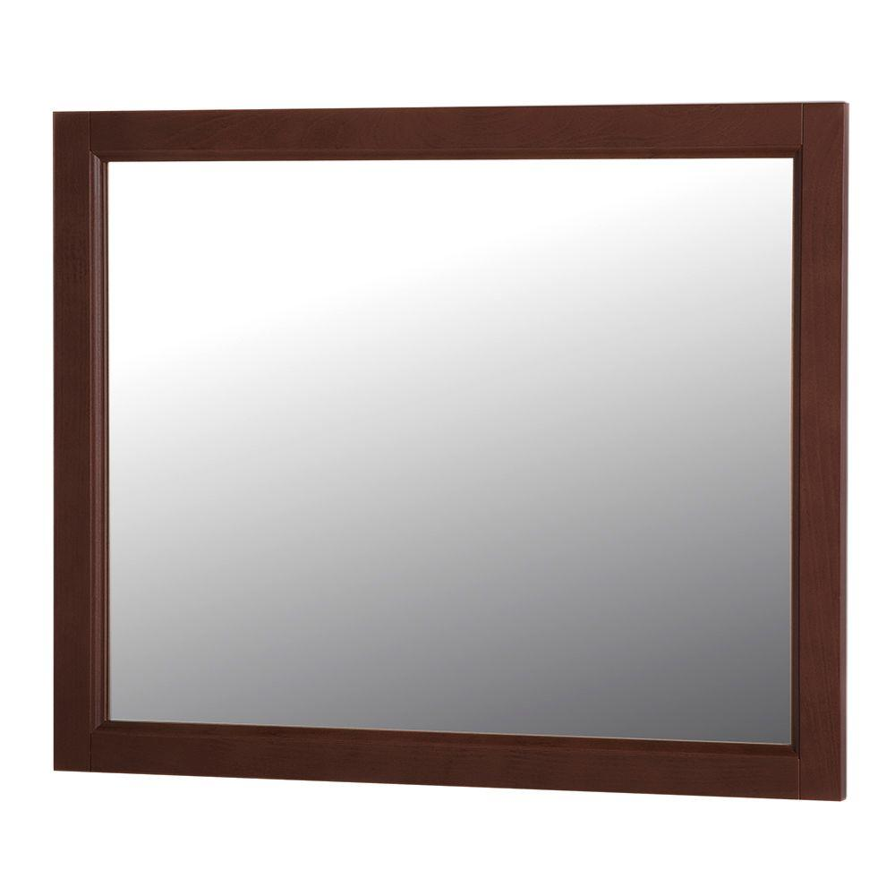 Home decorators collection claxby 31 in w x 26 in h wall mirror in cognac srwm26 cg the home Home decorators collection mirrors