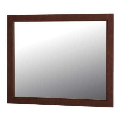 Claxby 31 in. W x 26 in. H Wall Mirror in Cognac
