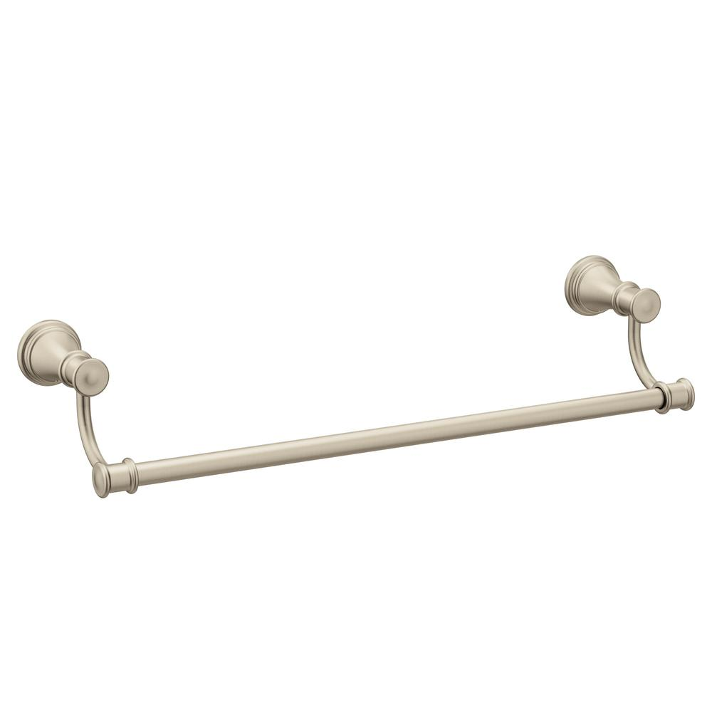 MOEN Belfield 24 in. Towel Bar in Brushed Nickel