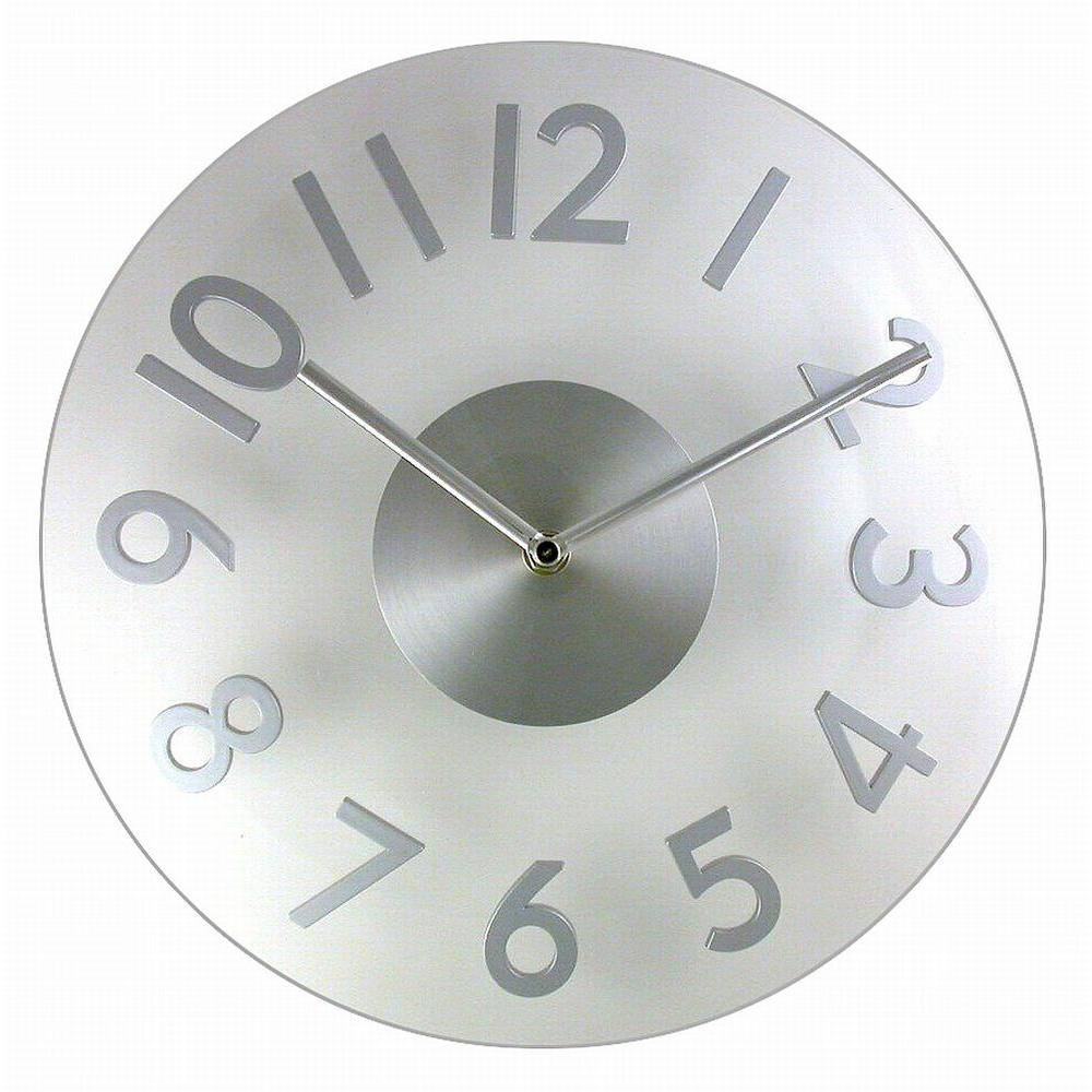 Timekeeper Products 11-1/2 in. Round Acrylic/Silver Wall Clock